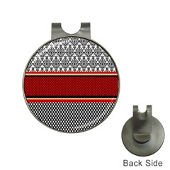 Background Damask Red Black Hat Clips with Golf Markers