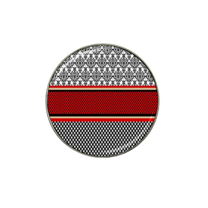 Background Damask Red Black Hat Clip Ball Marker (10 pack)