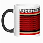 Background Damask Red Black Morph Mugs Left