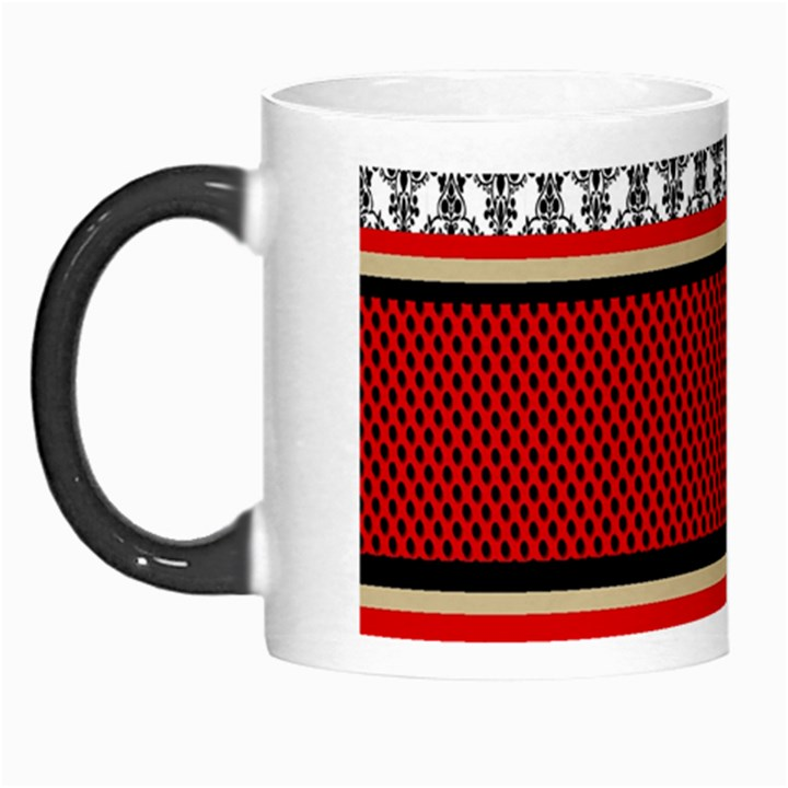 Background Damask Red Black Morph Mugs