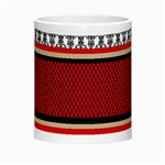 Background Damask Red Black Morph Mugs Center