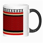 Background Damask Red Black Morph Mugs Right