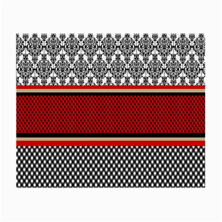 Background Damask Red Black Small Glasses Cloth