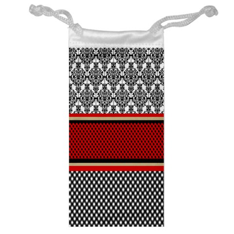 Background Damask Red Black Jewelry Bags