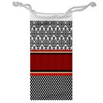 Background Damask Red Black Jewelry Bags Front