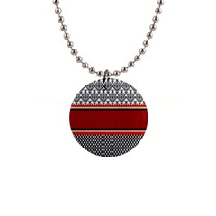 Background Damask Red Black Button Necklaces