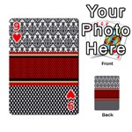 Background Damask Red Black Playing Cards 54 Designs  Front - Heart9