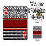 Background Damask Red Black Playing Cards 54 Designs  Front - HeartQ