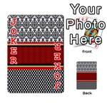 Background Damask Red Black Playing Cards 54 Designs  Front - Joker2