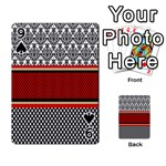Background Damask Red Black Playing Cards 54 Designs  Front - Spade9