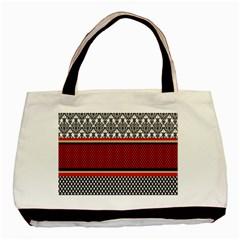 Background Damask Red Black Basic Tote Bag