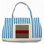Background Damask Red Black Striped Blue Tote Bag Front