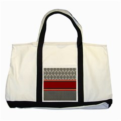 Background Damask Red Black Two Tone Tote Bag