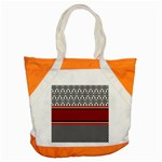 Background Damask Red Black Accent Tote Bag Front