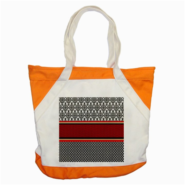 Background Damask Red Black Accent Tote Bag