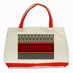 Background Damask Red Black Classic Tote Bag (Red)