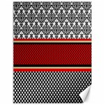 Background Damask Red Black Canvas 12  x 16   16 x12 Canvas - 1