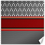 Background Damask Red Black Canvas 16  x 16   16 x16 Canvas - 1