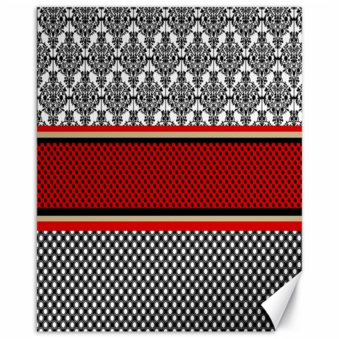 Background Damask Red Black Canvas 16  x 20