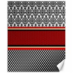 Background Damask Red Black Canvas 16  x 20   20 x16 Canvas - 1