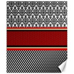 Background Damask Red Black Canvas 20  x 24   24 x20 Canvas - 1