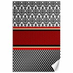 Background Damask Red Black Canvas 24  x 36  36 x24 Canvas - 1