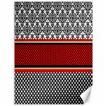 Background Damask Red Black Canvas 36  x 48   48 x36 Canvas - 1