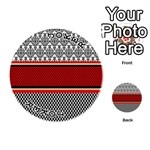 Background Damask Red Black Playing Cards 54 (Round)  Front - Joker1