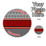 Background Damask Red Black Playing Cards 54 (Round)  Front - Joker2