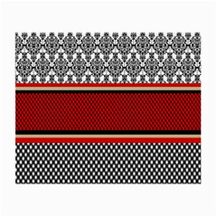 Background Damask Red Black Small Glasses Cloth (2-Side)