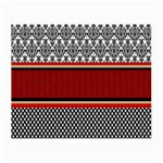 Background Damask Red Black Small Glasses Cloth (2-Side) Front