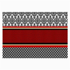 Background Damask Red Black Large Glasses Cloth (2-Side)