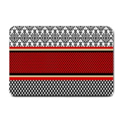 Background Damask Red Black Small Doormat