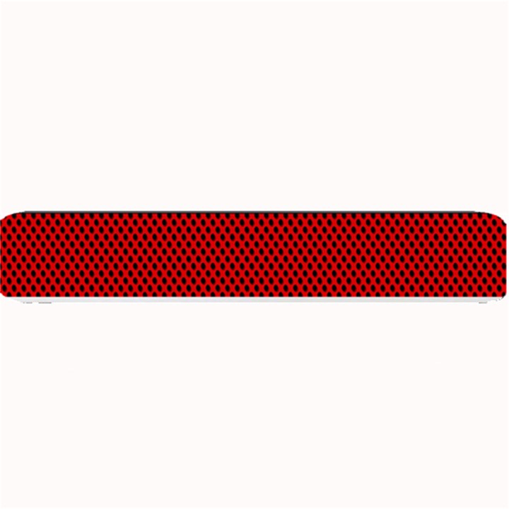 Background Damask Red Black Small Bar Mats