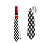 Background Damask Red Black Neckties (Two Side)  Front