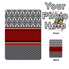 Background Damask Red Black Multi-purpose Cards (Rectangle)