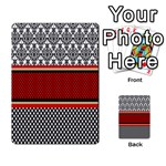 Background Damask Red Black Multi-purpose Cards (Rectangle)  Front 9