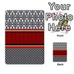 Background Damask Red Black Multi-purpose Cards (Rectangle)  Back 4