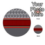 Background Damask Red Black Multi-purpose Cards (Round)  Front 25