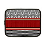Background Damask Red Black Netbook Case (Small)  Front
