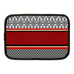 Background Damask Red Black Netbook Case (Medium)