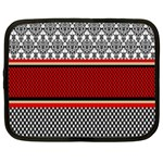 Background Damask Red Black Netbook Case (Large) Front