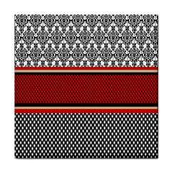Background Damask Red Black Face Towel