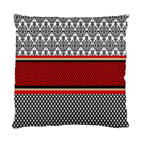 Background Damask Red Black Standard Cushion Case (Two Sides)