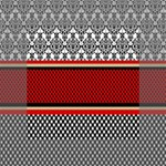 Background Damask Red Black Mini Canvas 4  x 4  4  x 4  x 0.875  Stretched Canvas