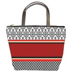Background Damask Red Black Bucket Bags Front