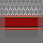 Background Damask Red Black Mini Canvas 6  x 6  6  x 6  x 0.875  Stretched Canvas