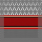 Background Damask Red Black Mini Canvas 8  x 8  8  x 8  x 0.875  Stretched Canvas