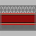 Background Damask Red Black Canvas 18  x 12  18  x 12  x 0.875  Stretched Canvas