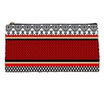 Background Damask Red Black Pencil Cases Front